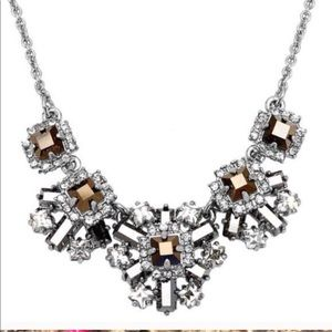 Kate Spade Space Age Floral Silver Necklace